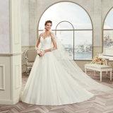 Шнурок высокого качества Appliques Tulle a - линия платье венчания 2017