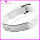 4 in 1 magnetischem Armband-Edelstahlzircon-Marken-Silikon-Bioarmband