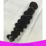 Tiefe Welle natürliches schwarzes menschliches indisches Remy Haar