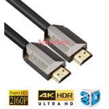 ナイロン組みひもが付いている金によってめっきされる2.0/3D/4k HDMIケーブル