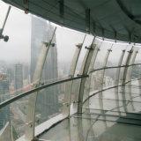 Подгонянные изготовлением конструкции Railing балкона нержавеющей стали стеклянные