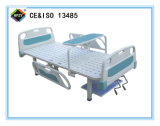 (A-73) Cama de hospital manual Double-Function con la pista de la base del PE