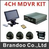 任意選択3G 4G WiFiの4CH 3G GPS SDのカード移動式DVR/Ahd 720p