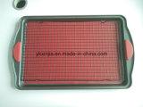 De silicones jeu de feuille de traitement au four de rectangle de PCS du bâton 3 non