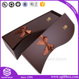 Caixa de empacotamento da tampa do presente dos doces do casamento de papel da flor