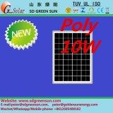 poli comitato della pila solare di 18V 10W per 12V il sistema (2017)