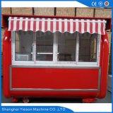 Ys-Bf230g Janela deslizante de vidro Carrinhos de comida móveis Fast Food Kiosk