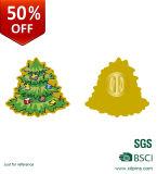 自由な型の料金とのクリスマスのための昇進の金属の印刷の折りえりピン
