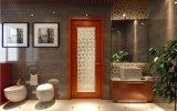 Glace Tempered de vente chaude de Woodwin double avec la porte en aluminium de salle de bains de configuration