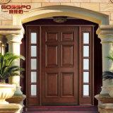Home Solid Wooden Glass Porta interior 1d + 2SL (GSP1-034)