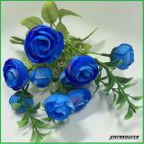 Flores rojas de Rose de la falsificación de seda de las flores artificiales para la decoración casera de la boda