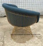 Metal ao ar livre do fio da mobília do restaurante do lazer que janta a cadeira
