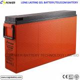 batería Telecom de acceso frontal del ciclo profundo de 12V 100ah