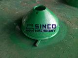 Zerkleinerungsmaschine-Ersatzteil-Filterglocke-Zwischenlage und Umhang