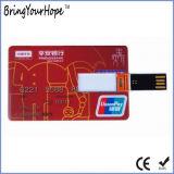 Dünne Kreditkarte USB-grelle Platte (XH-USB-012)