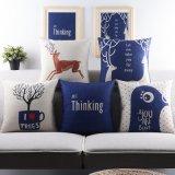 Sofá de lino de algodón barato con almohadas para los sofás que adornan