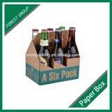 Crear el rectángulo del vino para requisitos particulares de la cartulina de la botella del embalaje 4 o 6