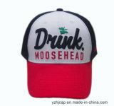 Gorra de béisbol promocional del bordado de los deportes del bordado del casquillo de la gorra de béisbol del algodón de encargo de Burshed