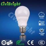 Natual 백색 전통 모양 55mm 7W E27 LED 전구