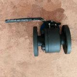 API602 150lb a modifié le robinet à tournant sphérique en acier d'extrémité de connexion de la bride A105