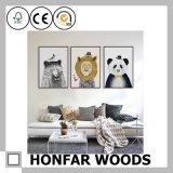 Frame de madeira branco da pintura da decoração grande da parede do tamanho