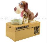 OEM creativo plástico eléctricos caja del ahorro de la caja de dinero con el perro de comer el dinero