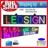 P10 RGB LED 두루말기 전시 전보국 또는 실내 풀 컬러 발광 다이오드 표시 지원 컴퓨터 USB Programmablefor LED 표시