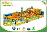 カスタマイズされた幼稚園の屋外の木製の海賊船の運動場装置