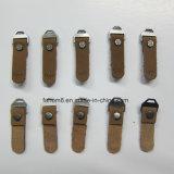 Extrator de borracha plástico personalizado do Zipper para o vestuário