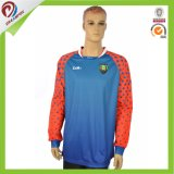 Chemise sublimée en gros faite sur commande du football/football Jersey/uniforme de guardien de but