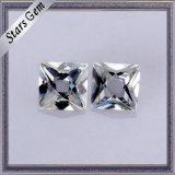 백색 1 캐럿 프랑스인 커트 Moissanite 명확한 다이아몬드 대