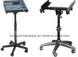 Peças de ferragens para móveis Base de assento giratório para Stands de console de mixagem de áudio Stage