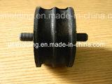 耐久の黒いゴム製バッファ。 自動車部品。 衝撃吸収材