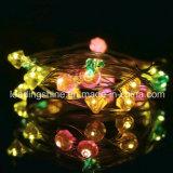다이아몬드 모양 착색되는 침실 실내 옥외 33 FT 구리 철사 100 LED 전구 다중을%s 방수 끈 빛