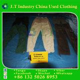 Roupa usada americana para calças longas da carga