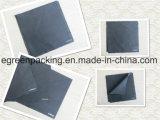 Черная ткань чистки стекел Microfiber с белым логосом 80%Polyester20%Polyamide