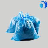 Parte inferior lisa biodegradável que empacota o saco de lixo plástico