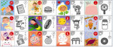 Japan scherzt Edcation Spielkarte-Spiel mit Zinn-Kasten