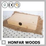 Rectángulo de almacenaje de madera exquisito del regalo para la decoración casera