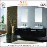N&Lのアメリカの標準的な純木のカシの浴室用キャビネット