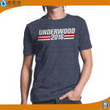 T-shirts estampés meilleur marché de T-shirts de coton d'hommes d'OEM