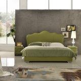 Base moderna del cuero de los muebles del dormitorio del diseño de la cama matrimonial de la manera (G7006)