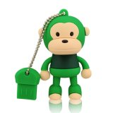 Горячий USB таможни сбывания 4GB животный управляет шаржем обезьяны милый