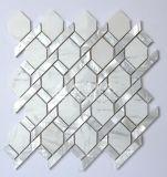 Shell de agua dulce y mosaico blanco de mármol