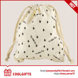 100%Cotton昇進の環境に優しいドローストリングのバックパック袋(CG232)