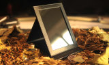 Il trucco portatile di bellezza rispecchia lo specchio da tavolino di marca