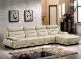 Sofà del cuoio di combinazione degli insiemi di salone della mobilia di disegno moderno (HX-SN011)