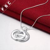 De hete Verkopende Halsband Van uitstekende kwaliteit van de Tegenhanger van de Cirkel van de Manier in CZ