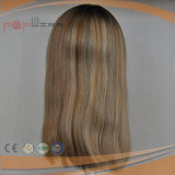 Virgin Remy 인간적인 머리 실크 최고 어두운 뿌리박는 여자 가발 (PPG-l-0636)