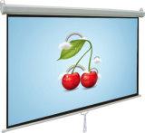 HD se dirigen el blanco mate OEM&ODM de la pantalla manual portable del proyector del cine